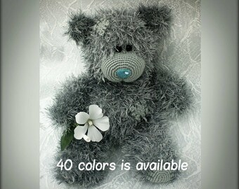 Hand knitted Teddy Bear Valentine's Day Gift with Love Gift for Her Will be made Just for You