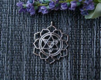 Merkaba Pendant - Merkaba Necklace - Geometric Necklace
