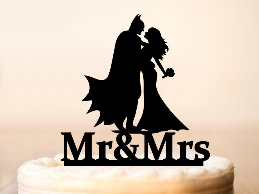 batman cake topper mr mrs batman acrylic wedding birthday day cake