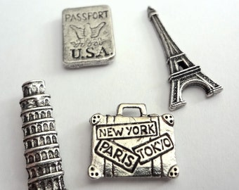 Travel Pushpin set of 15pc , **FREE SHIPPING**Usually Ships the Same Day **