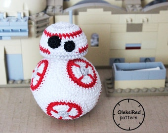 Star Wars CROCHET PATTERN - Droid Bb8 amigurumi pattern!