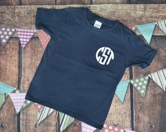 SALE!! Toddler Monogrammed Shirt - Monogram Shirt - Monogram T-shirt - Monogram Tshirt - Personalized Shirt - Monogram Tee - Monogrammed Tee