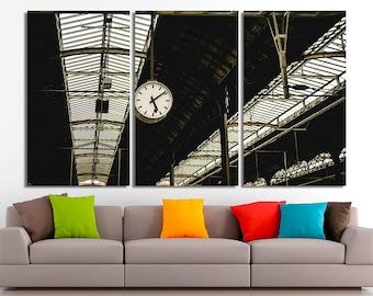 Railway station art, Railway station photo, Railway station print, Depot wall art, Depot canvas, Depot print, Depot poster, Terminal photo