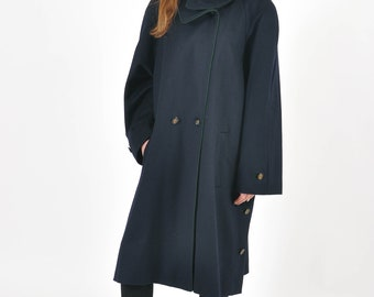 Vintage 80s wool and cashmere maxi coat