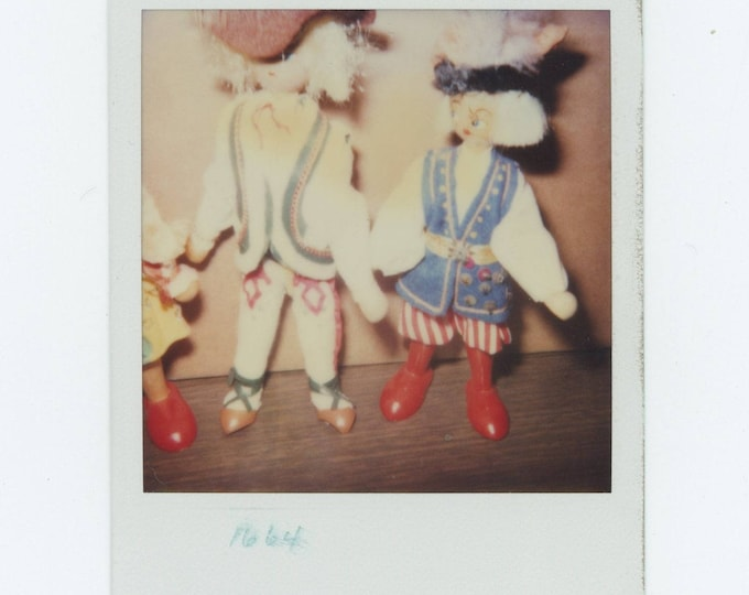 Vintage Polaroid SX-70 Snapshot Photo: Marionettes (712626)
