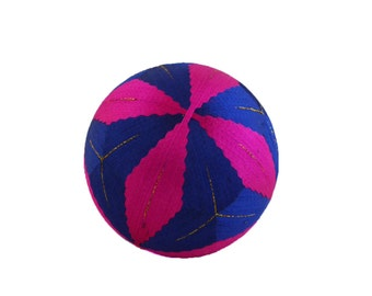 """VINTAGE Beautiful """" Temari """" Ball , Embroidering Thread Ball , Japanese Art Ball , Modern Geometric Design , Hand Crafted , for Collector"""