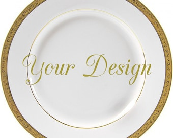 Customizable Plates, Custom Dinnerware, Customizable Dishes, Personalized Plates, Personalized Dishes, Bespoke Plates Wedding, Custom China