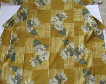Vintage high quality yukata with sunflowers, 157cm- Summer kimono - Festival wear - Casual kitsuke - Cotton - USED - Japan