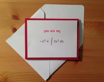 Math Anniversary Card - Math Love Card - Math Birthday Card - Calculus Anniversary Card - Calculus Love Card - Calculus Birthday Card