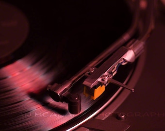 Photo of Turntable, Vinyl Record Photo, Album and Turntable, Clip art, Instant Download, Stock Image, Music ClipArt, Website Content