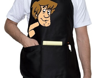 Shaggy From Scooby Doo Adult Apron, Cartoon Unisex Custom Apron, Your choice of 3 sizes!