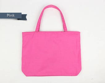 Pink Tote bag,canvas tote bag,Zipper Tote Bag,mom tote bag,gift