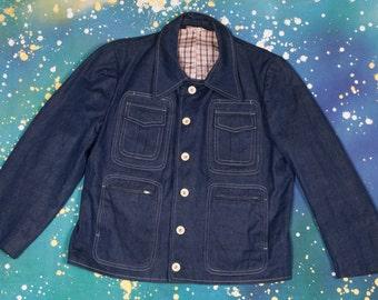 1970's Women's Denim Jacket Zipper Pockets