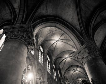 """Fine Art """"Holy Ghost"""", Notre Dame Cathedral, Architecture Photography, Pacific Northwest, Home Decor, Gift Ideas, Digital Download"""