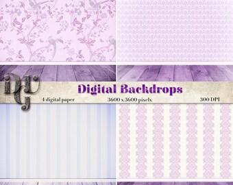 Digital Backdrop Shabby Chic room  photo backgrounds Digital Scrapbook Paper digital background distressed wood wallpaper texture #085