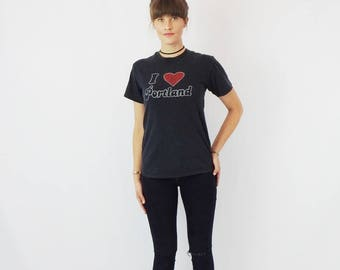 I Heart Portland Tee! Vintage Soft and Perfectly worn in I <3 Portland Top Women's Size S/M