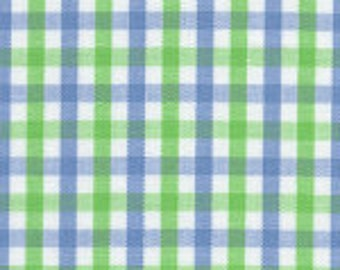 HALF YARD Blue and Green Fabric Finders Tri-check