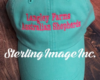 Custom Hat Embroidered with Any Text, Embroidered Hat, Monogrammed Hat, Distressed Hat, Personalized Hat, Custom Hat, Unstructured Hat