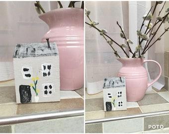 Grey Miniature Handmade Tiny Terrace