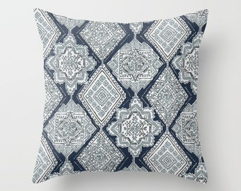 Navy Pillow cover Italian Pillow Cover Decorative Pillow Cover Couch Pillows Size Choice Accent Pillow