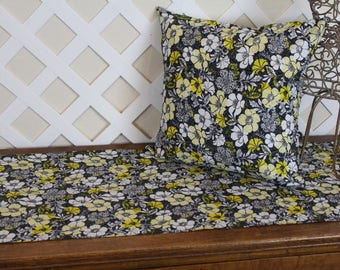 Table Runners, Table Toppers, Dresser Scarf,  Pillow Covers.  Yellow, Black, White.