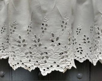 French vintage cotton underskirt / slip, broderie anglais trim, very good condition.
