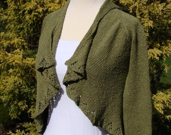 PDF pattern. fantail wrap sweater