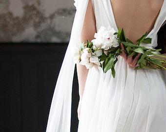 Ansel / Lace wedding dress Low back wedding dress for a pregnant bride Pregnant bride dress boho wedding dress Rustic wedding alternative