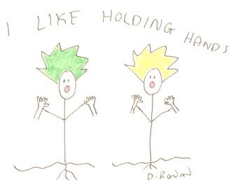 I like holding hands