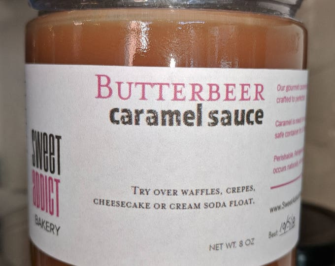 HARRY POTTER BUTTERBEER Caramel Sauce - goes great over a cream soda ice cream float, waffles, cupcakes - Limited Edition Special Order