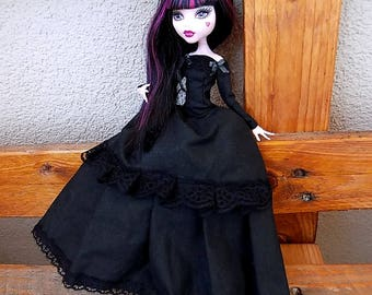 Black gothic lady - dress for MH and EAH dolls