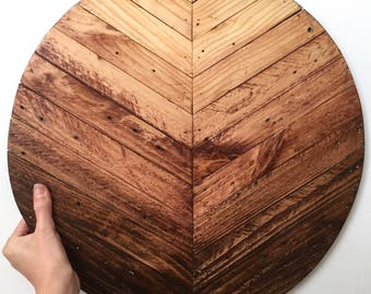 "18"" Ombre Wood Round"