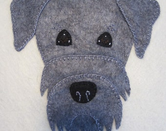 Schnauzer Penny Rug Pet Portrait