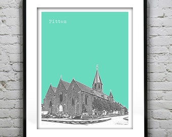 20% OFF Memorial Day Sale - Pittem Belgium Skyline Poster Art Print Europe Version 1