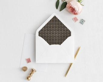 Gatsby Envelope Liner | Gold 1920's | Printable Envelope Liner | Wedding Envelope Liner | A7 & A6 Envelope Liners | DIY Envelope Liners