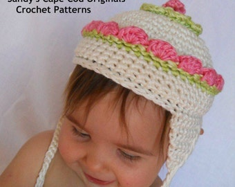 Fairy Maryjane Booties and Hat PDF 102A Crochet Pattern