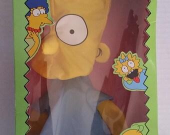"The SIMPSONS Hang Around WIND SOCK 1990 18"" New In Box Vintage Bart Simpson *Rare* Matt Groening Tv Cartoon Collectable Classic"