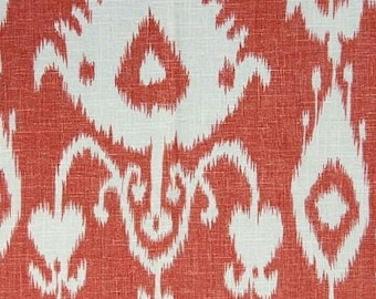 Custom Pillow Cover / Bristow by Portfolio Textiles in Cranberry / Red Ikat / Both Sides /  Made to Order