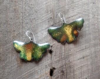 Ginko leaf earring