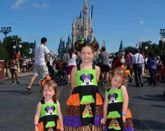 Minnie Inspired Not So Scary Dress! Perfect for  Disney or Disney 'Halloween on the High Seas cruise!
