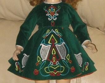 American Character - Sweet Sue - Pair of Dolls - Wardrobe - Costume - Celtic Dance Dress - Halloween - Doll - Vintage - Sleep Eyes - Trunk