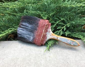 Vintage Paint Brush, Rustic Decor, Horse Hair Brush, Farmhouse Decor, Large Brushes
