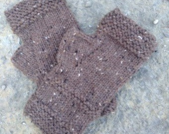 Outlander Brown Knit Fingerless Gloves - Brown -Handmade Fingerless Glove - Wrist Warmers - Arm Warmers - Mittens  - ON Sale
