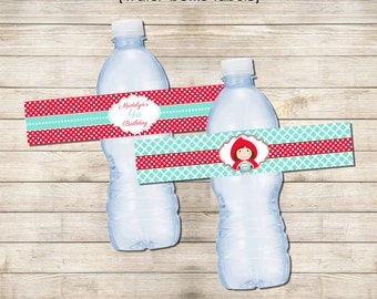 Printable Water Bottle Labels - Little Red Riding Hood Party Collection