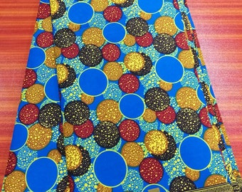 High Quality Ankara Fabric/ African Wax Fabric/ Holland Wax Fabric Multicolor circles Design Wax Print Fabric - SUMMER EXCLUSIVE