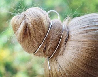 Hair Band Bracelet, Hair Bun Cuff, Bun Ring Bun Holder, Silver Hair Slide Clip Hair Fork Hair Stick Pin, Hair Accessories Hair Jewelry, Gift