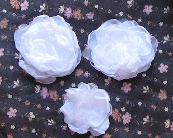 White peony hair.Weddings Accessories Hair-Corsage,broosh,fascinator,sash-Bride,bridesmaids
