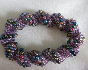Purple Cellini Spiral Bracelet