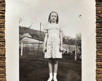Original Vintage Photograph | Tabitha is Tall | 1945