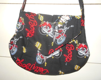 Betty Boop Motorcycle Pattern Purse/ Bag